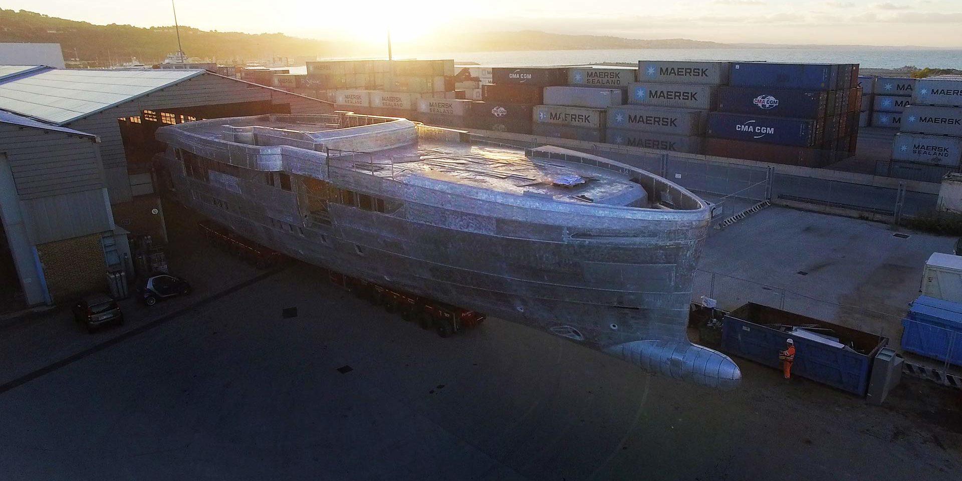 WIDER 165 – A superyacht under construction