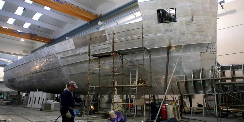 WIDER 150 – The Superyacht under construction